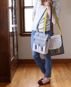 Campfire Messenger Bag Pattern by Noodlehead