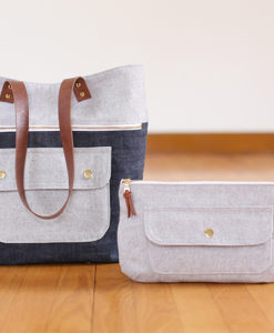 caravan tote and pouch sewing pattern