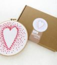 red heart embroidery wall art kit