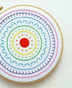 rainbow sampler embroidery wall art kit