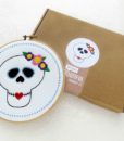 sugar skull modern embroidery kit