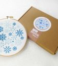 snowflake embroidery wall art kit