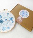 snowflake embroidery wall art kit