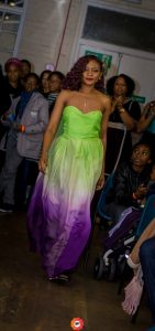 ombre gown by Ghislaine Gazon