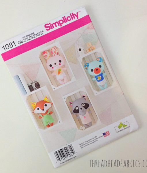 Simplicity 1081 Soft Toy Pattern
