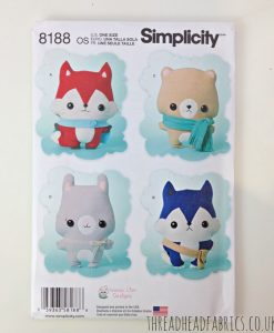 Soft Toy Sewing Pattern Simplicity 8188