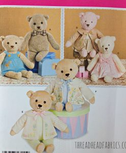 Simplicity 8155 Teddy Bear Sewing Pattern