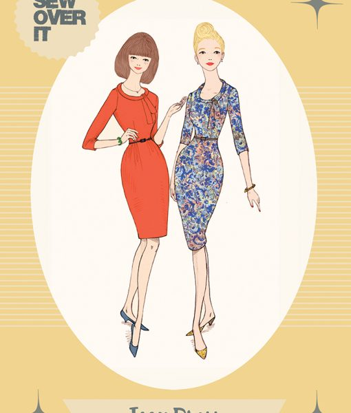 Sale! Sew Over It Joan Dress Classic Vintage Style Sewing Pattern ...