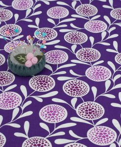 Purple Flower Hearts Copenhagen Print Factory