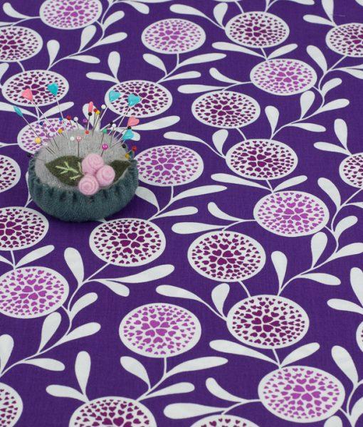 Copenhagen Print Factory Purple Flower Hearts