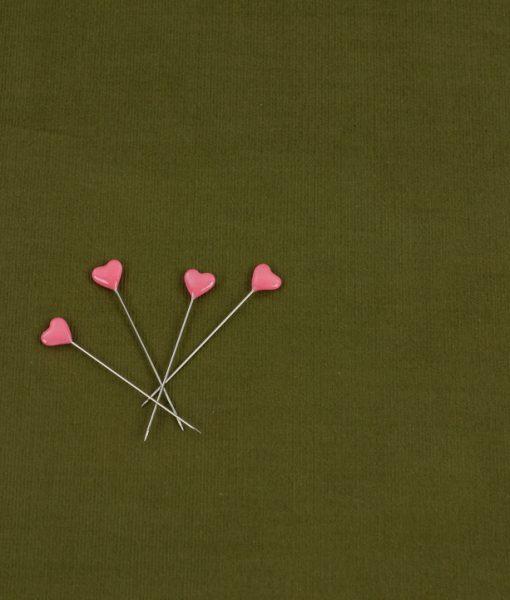 Cotton Needlecord Lightweight Fabric in Moss