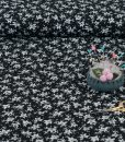 Leafy Ditzy Print Viscose on Black