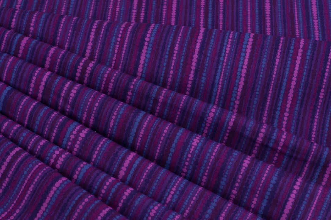 Multi Dot Lines In Purple By Copenhagen Print Factory