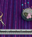 Purple Multi Dot Lines Cotton Fabric