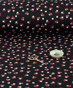 Spotted Ponte Roma Polyester Fabric