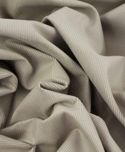 Soft Cotton Corduroy Fabric in Stone