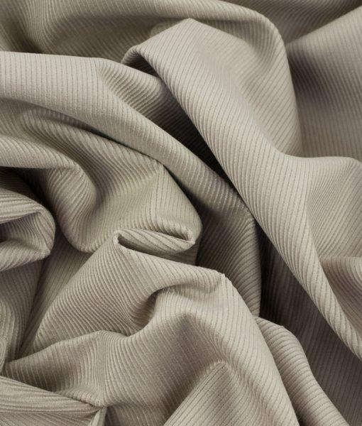 Soft Cotton Cord Fabric in Stone