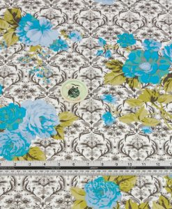 Cotton Sateen Floral Detail