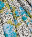 Cotton Sateen Floral Poly Blend