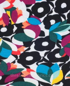 Gorgeous Modern Floral Jersey Dressmaking Fabric