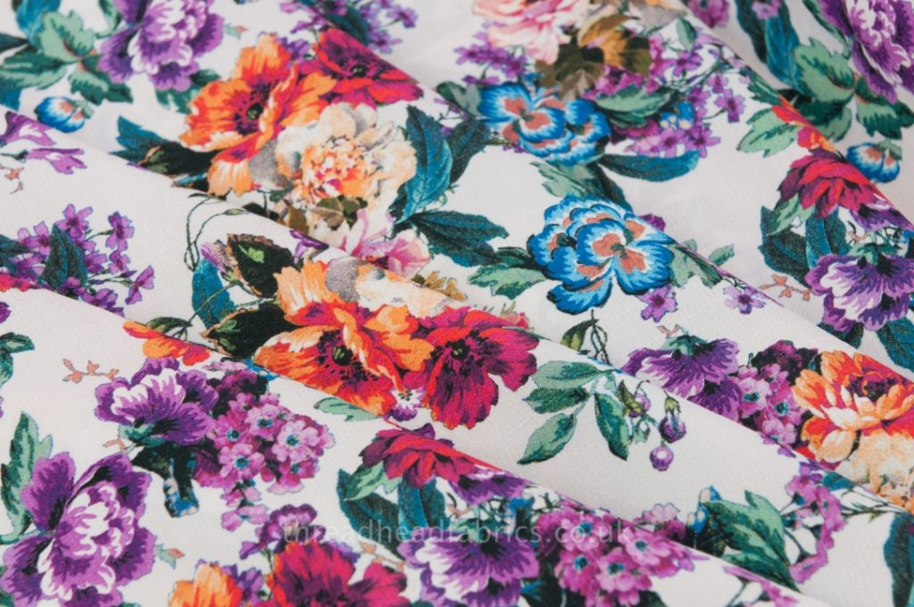 Floral fabrics are on trend this year