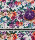 floral viscose fabric detailed