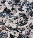 gorgeous floral crepe fabric in muted tones
