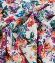gorgeous floral dressmaking viscose fabric
