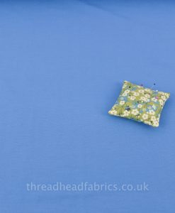 light blue chambray cotton blend fabric