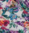 lovely floral viscose fabric folded