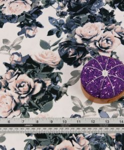 low volume floral crepe dressmaking fabric