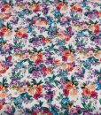 stunning floral viscose dressmaking fabric