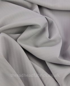 grey linen mix self stripe fabric