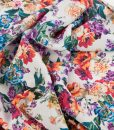 swirled viscose floral dressmaking fabric