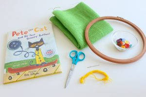 embroidery hoop art for kids activity