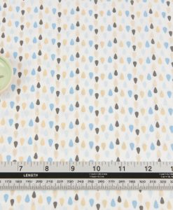 Sew Simple Fabrics Lille Bear Raindrops