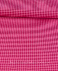 checks please bubblegum and magenta cloud 9 organic fabric