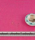 bubblegum and magenta organic checked cloud 9 fabric