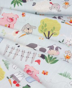 Off to the Farm Children's Fabric
