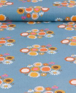 Rachel Erickson Guinevere Blue Floral Fabric