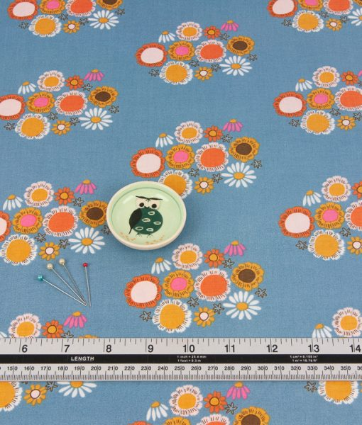 Guinevere in Blue Riley Blake Floral Fabric